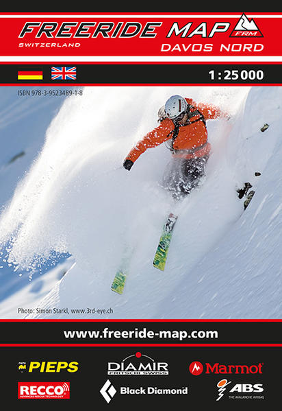 Freeride Map Davos Nord - Coverbild