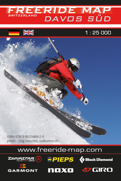 Freeride Map Davos Süd - Coverbild