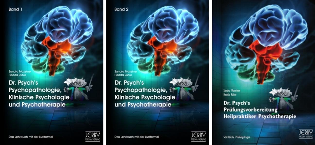 Dr. Psych's Psychopathologie, Klinische Psychologie und Psychotherapie, Bd. 1 und Bd. 2 sowie Dr. Psych's Prüfungsvorbereitung für Heilpraktiker - Coverbild