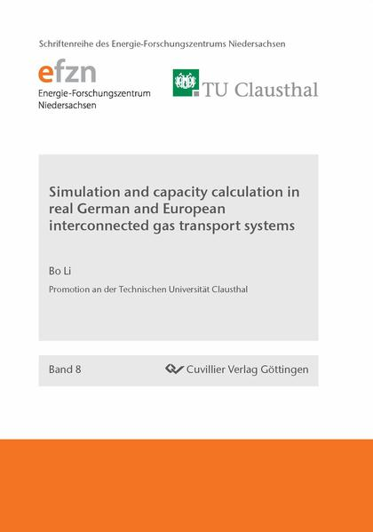 Simulation and capacity calculation in real German and European interconnected gas transport systems - Coverbild