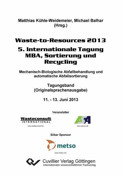 Waste-to-Resources 2013 - Coverbild