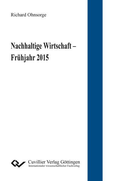 Nachhaltige Wirtschaft – Frühjahr 2015 - Coverbild