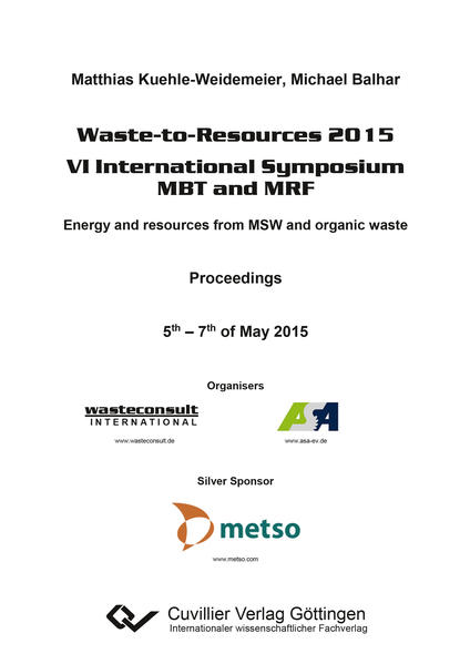 Waste-to-Resources 2015 - Coverbild