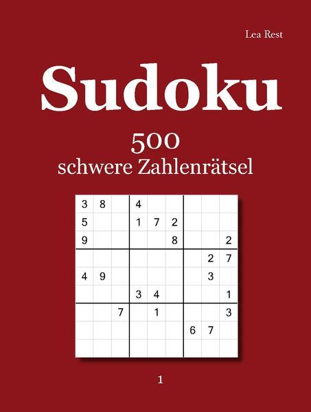 Sudoku 500 schwere Zahlenrätsel 1 - Coverbild