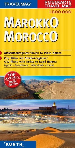 KUNTH Reisekarte Marokko 1:800000 - Coverbild