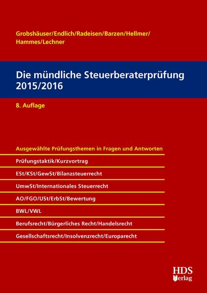 Die mündliche Steuerberaterprüfung 2015/2016 Epub Herunterladen
