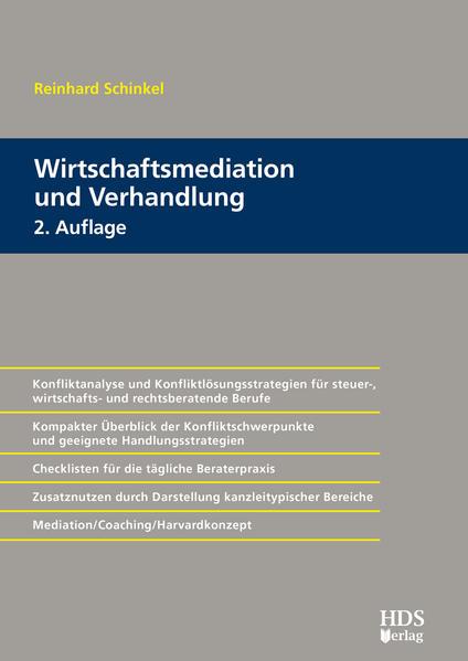 Wirtschaftsmediation und Verhandlung - Coverbild
