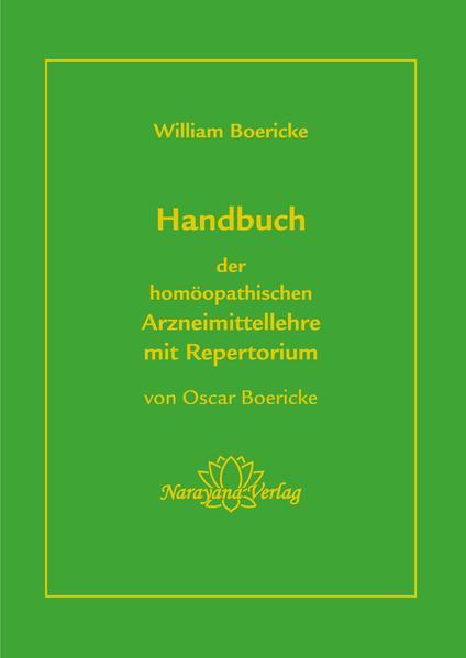 Handbuch der homöopathischen Arzneimittellehre mit Repertorium - Coverbild