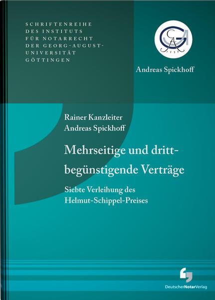 Mehrseitige und drittbegünstigende Verträge - Siebte Verleihung des Helmut-Schippel-Preises - Coverbild
