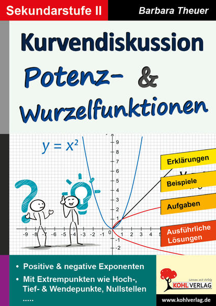 Kurvendiskussion / Potenz- & Wurzelfunktionen - Coverbild