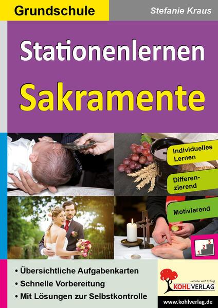 Stationenlernen Sakramente / Grundschule - Coverbild