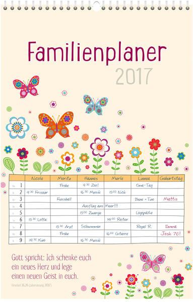 Familienplaner 2017 * - Coverbild