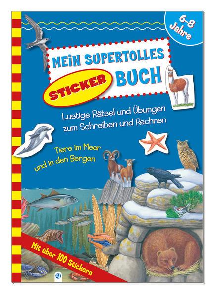 Stickerbuch Meere und Berge - Coverbild