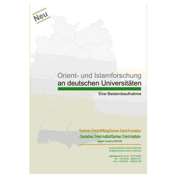 Orient- und Islamforschung an deutschen Universitäten - Coverbild