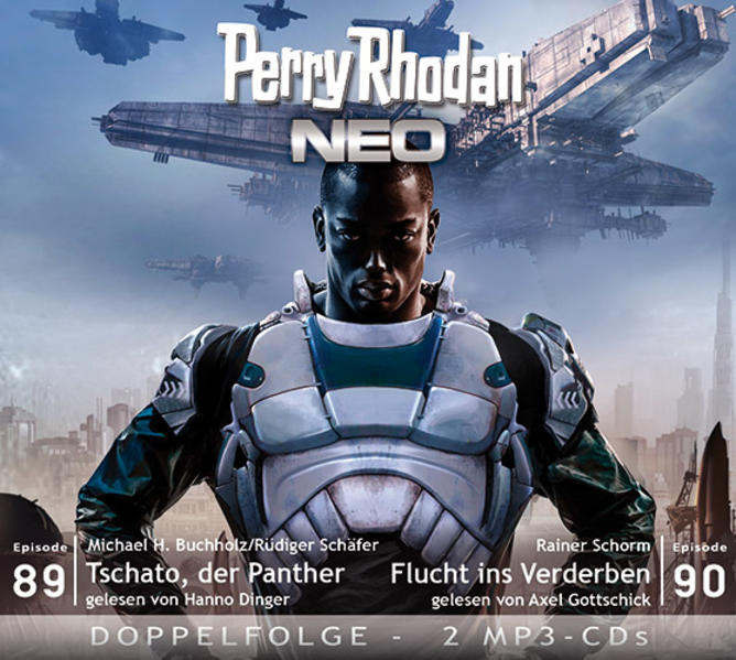 Perry Rhodan NEO MP3 Doppel-CD Folgen 89 + 90 - Coverbild