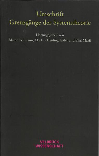 Umschrift. Grenzgänge der Systemtheorie - Coverbild