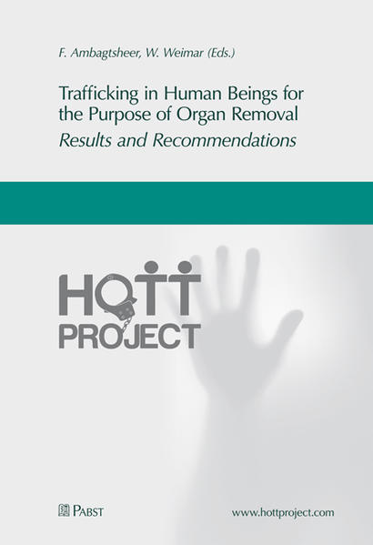 Trafficking in Human Beings for the Purpose of Organ Removal – Results and Recommendations - Coverbild