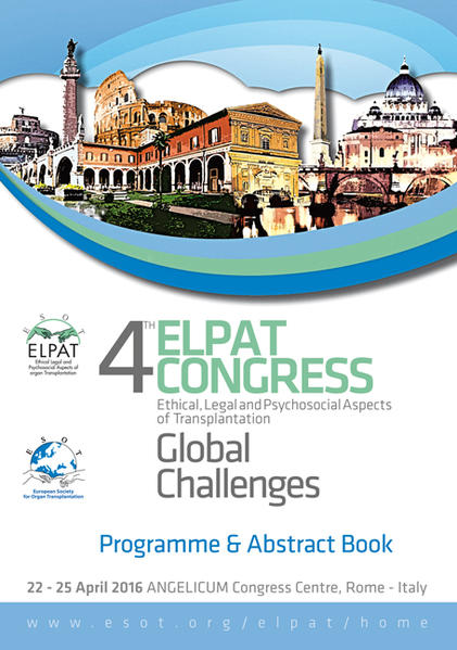 4th Elpat Congress – Ethical, Legal and Psychosocial Aspects of Transplantation. Global Challenges - Coverbild