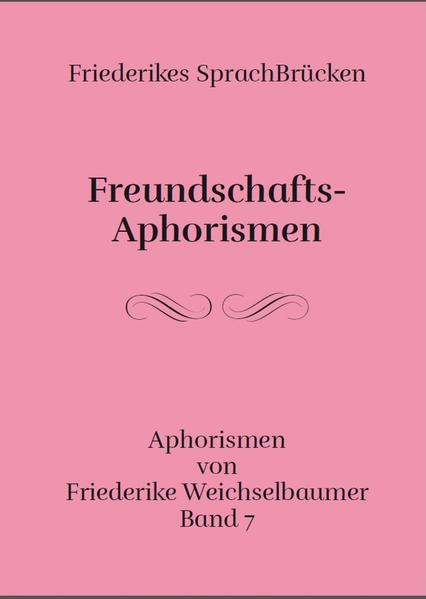 Freundschafts-Aphorismen - Coverbild