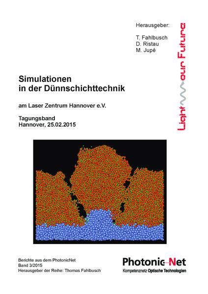Simulationen in der Dünnschichttechnik - Coverbild
