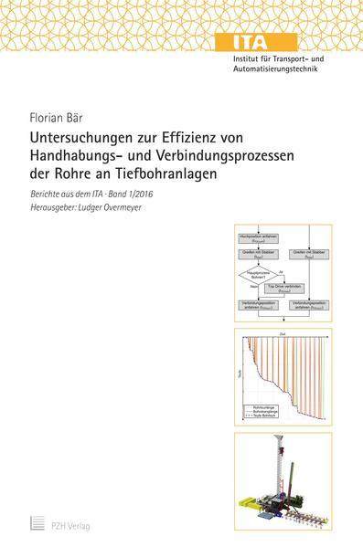 Untersuchungen zur Effizienz von Handhabungs- und Verbindungsprozessen der Rohre an Tiefbohranlagen - Coverbild