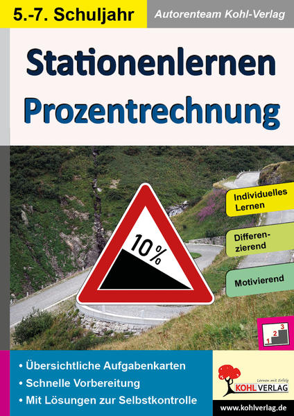 Stationenlernen Prozentrechnung - Coverbild