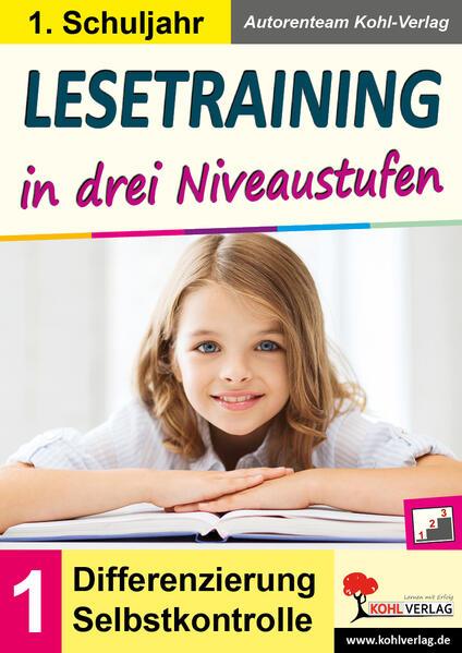 Lesetraining in drei Niveaustufen / Klasse 1 - Coverbild