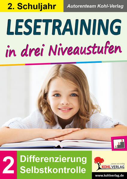 Lesetraining in drei Niveaustufen / Klasse 2 - Coverbild