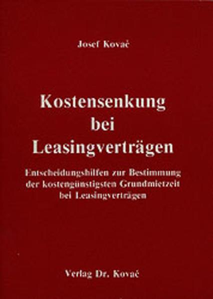 Kostensenkung bei Leasingverträgen - Coverbild