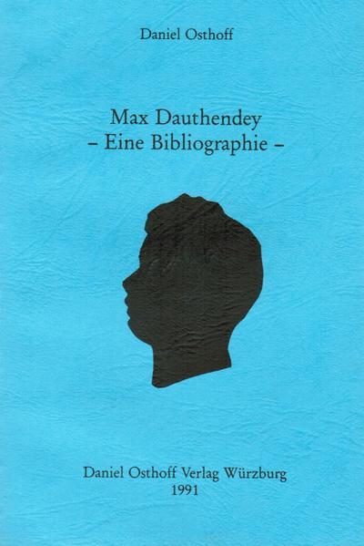 Max Dauthendey - Eine Bibliographie - Coverbild