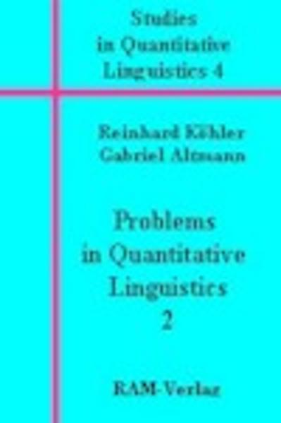 Problems in Quantitative Linguistics 2 - Coverbild