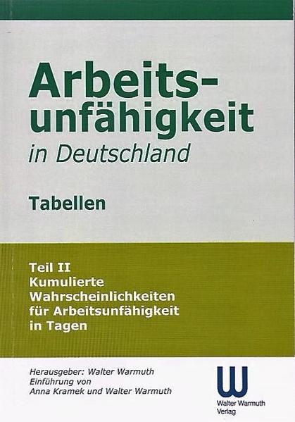 Arbeitsunfähigkeit in Deutschland Tabellen - Coverbild