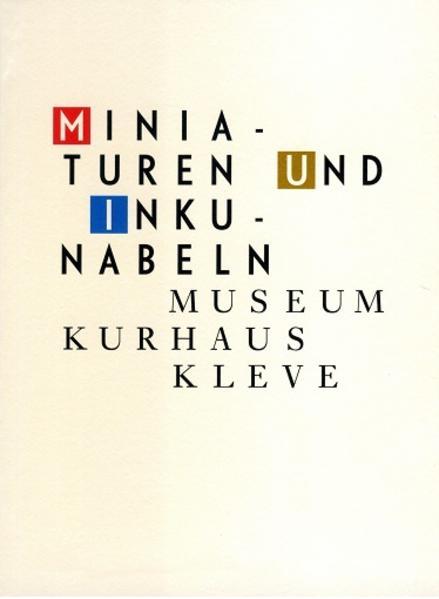 Miniaturen und Inkunabeln - Coverbild
