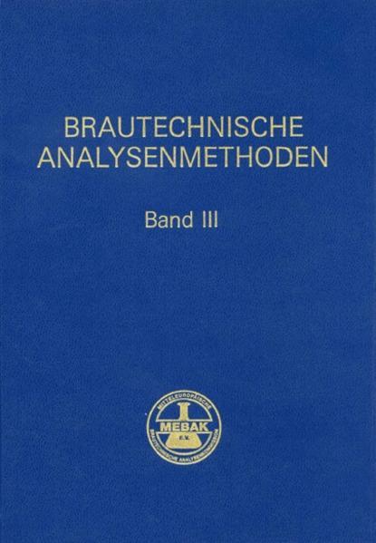 Brautechnische Analysenmethoden (Band III) - Coverbild