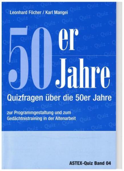 50er Jahre – Quizfragen über die 50er Jahre - Coverbild