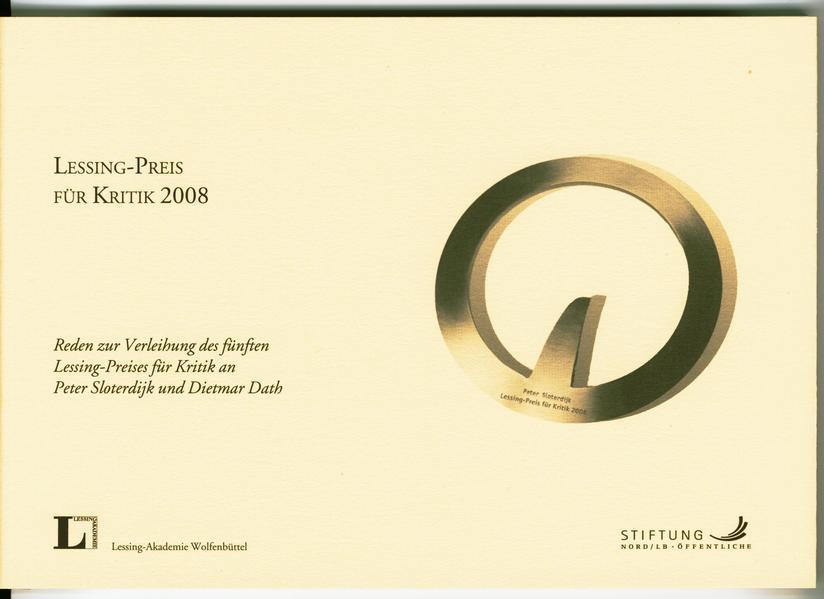 Lessing-Preis für Kritik 2008. - Coverbild