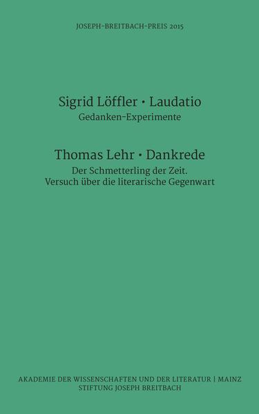 Joseph-Breitbach-Preis 2015 - Coverbild