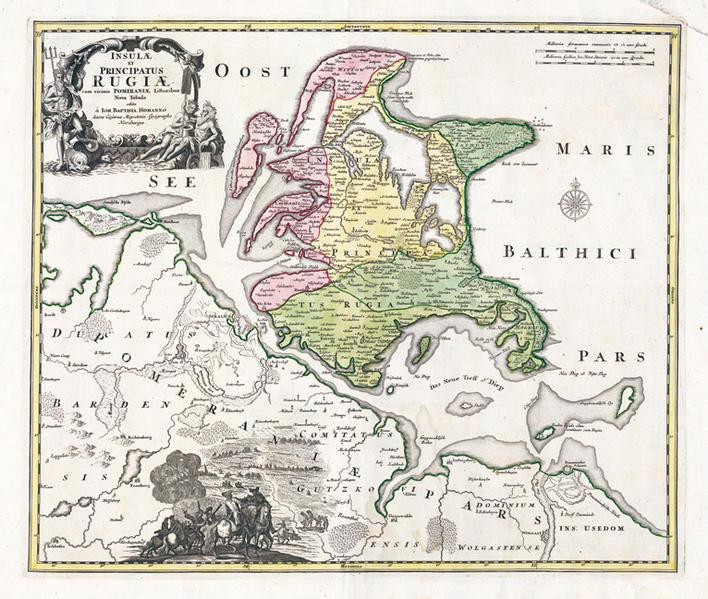 Karte der Inseln Rügen und Hiddensee PDF Herunterladen