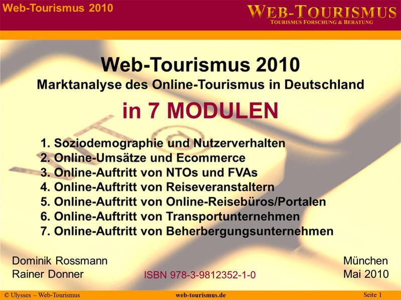 Web-Tourismus 2010 - Coverbild