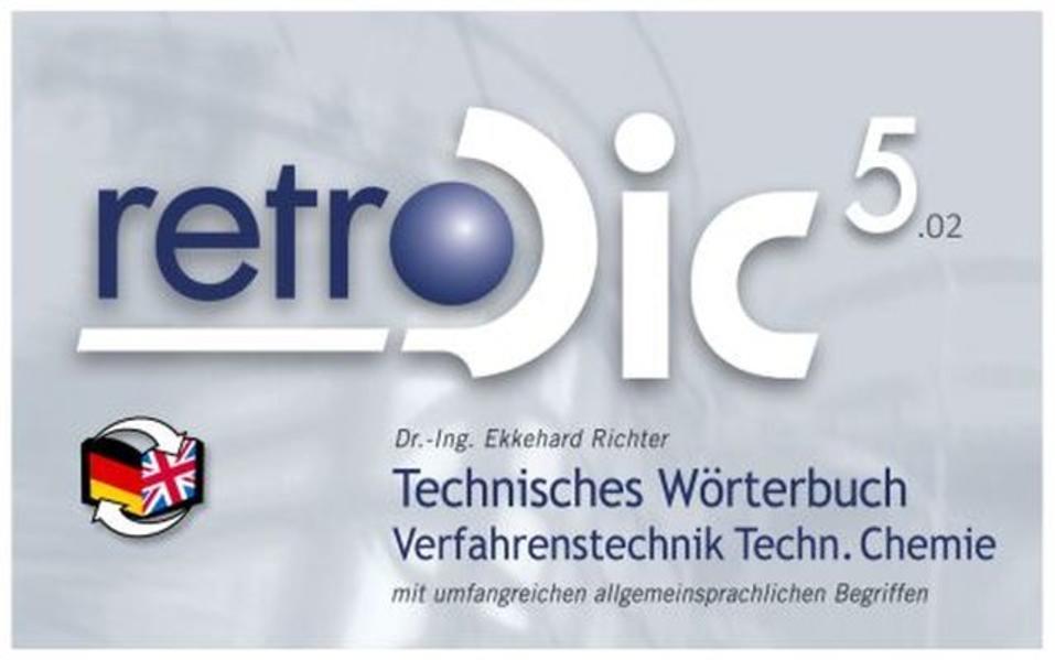 Technisches Wörterbuch retroDic 5 Verfahrenstechnik / Technische Chemie - Coverbild
