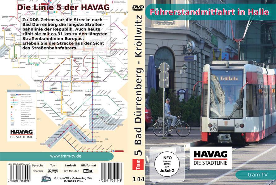 Führerstandmitfahrt in Halle - Die längste Straßenbahnlinie Ostdeutlands - Coverbild