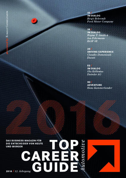 Top Career Guide Automotive 2016 - Coverbild