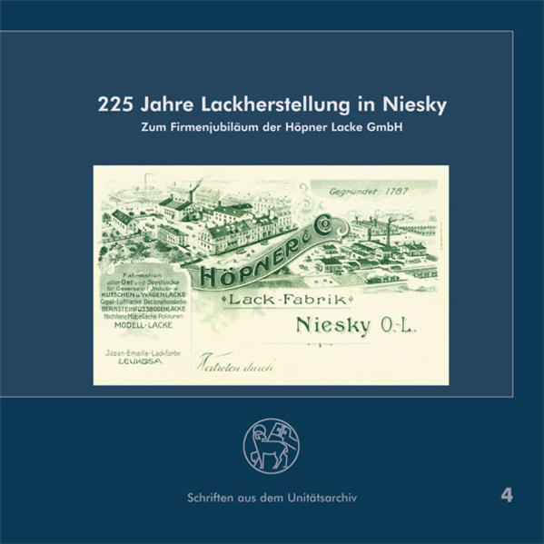 225 Jahre Lackherstellung in Niesky - Coverbild