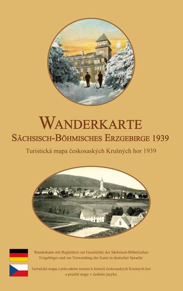Wanderkarte vom Sächsisch-Böhmischen Erzgebirge 1939 - Coverbild