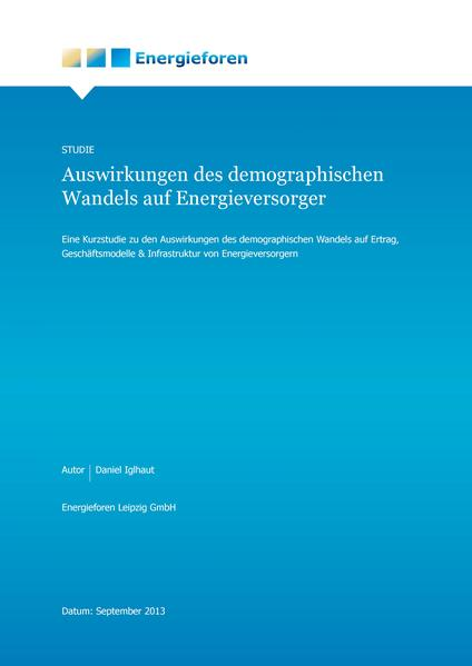 Auswirkungen des demografischen Wandels auf Energieversorger - Coverbild
