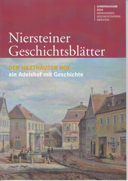 Niersteiner Geschichtsblätter - Coverbild
