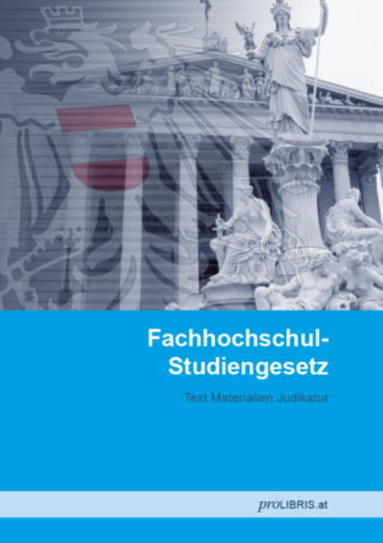 Fachhochschul-Studiengesetz - Coverbild