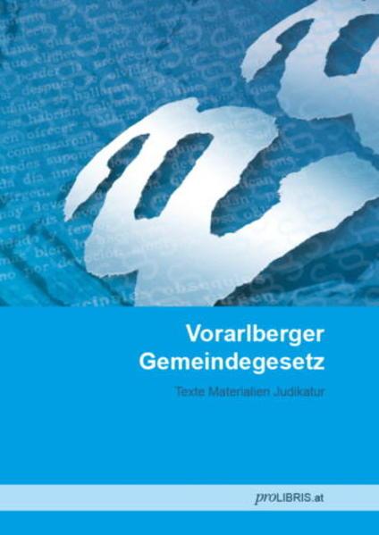 Vorarlberger Gemeindegesetz - Coverbild
