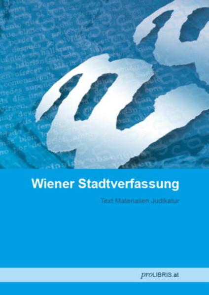 Wiener Stadtverfassung - Coverbild