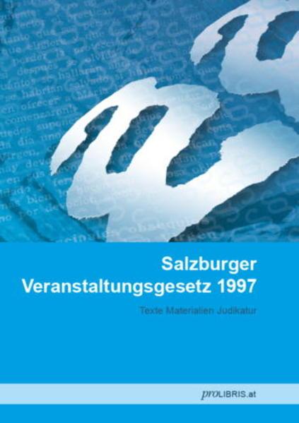 Salzburger Veranstaltungsgesetz 1997 - Coverbild